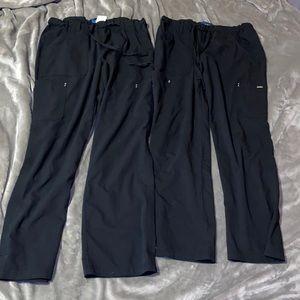 2 pairs of KOI SAPPHIRE scrub pants like new!